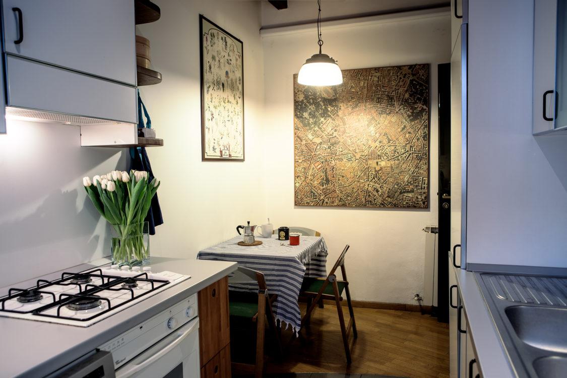 Cucina vista tavolo