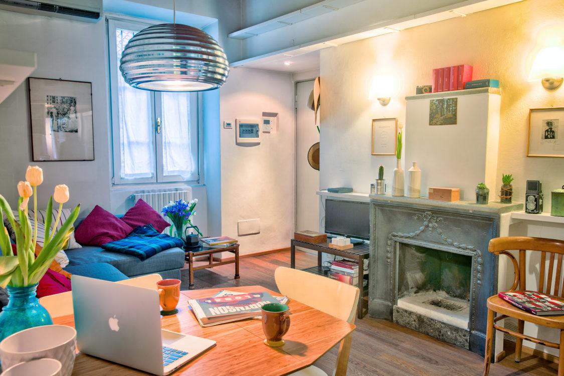 Vista soggiorno senza cucina